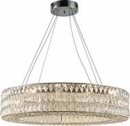 Worldwide CP195KC34 Galaxy Polished Chrome LED 34  Drum Lighting Pendant
