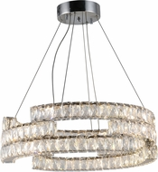 Worldwide CP196KC24 Galaxy Polished Chrome LED Pendant Lamp