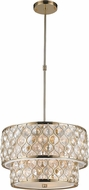 Worldwide CP410CG20-CM Paris Champagne Gold 20  Drum Hanging Light Fixture