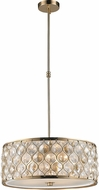 Worldwide CP414CG20-CM Paris Champagne Gold 20  Drum Pendant Lighting