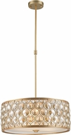 Worldwide CP414MG20-GT Paris Matte Gold 20  Drum Pendant Light