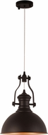 Worldwide CP560MB12 Broadway Modern Matte Black LED Lighting Pendant