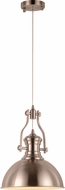 Worldwide CP560MN12 Broadway Contemporary Matte Nickel LED Pendant Lamp