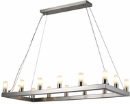 Worldwide CP572BN32 Silhouette Contemporary Brushed Nickel LED Island Light Fixture