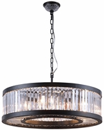 Worldwide CP651BP28 Kensington Antique Bronze 28  Drum Hanging Light