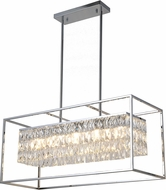 Worldwide CP661C32 Franklin Polished Chrome Kitchen Island Lighting