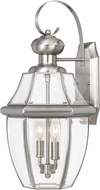 Worldwide E10034-007 Westport Brushed Stainless Steel Exterior 17  Wall Sconce Lighting