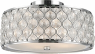Worldwide FS410C16-CL Paris Polished Chrome 16  Ceiling Lighting