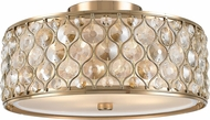 Worldwide FS410CG16-CM Paris Champagne Gold 16  Ceiling Light