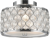 Worldwide FS412C12-CL Paris Polished Chrome 12  Ceiling Light Fixture