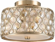 Worldwide FS412CG12-CM Paris Champagne Gold 12  Flush Lighting