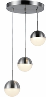 Worldwide FS812MN10 Phantasm  Modern Matte Nickel LED Multi Hanging Light Fixture