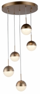 Worldwide FS814MG14 Phantasm  Modern Matte Gold LED Multi Ceiling Light Pendant