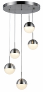 Worldwide FS814MN14 Phantasm  Contemporary Matte Nickel LED Multi Ceiling Pendant Light