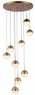 Worldwide FS815MG18 Phantasm  Modern Matte Gold LED Multi Drop Ceiling Light Fixture