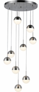 Worldwide FS815MN18 Phantasm  Modern Matte Nickel LED Multi Drop Lighting Fixture