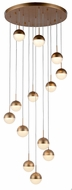 Worldwide FS816MG22 Phantasm  Contemporary Matte Gold LED Multi Pendant Lighting