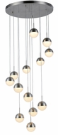 Worldwide FS816MN22 Phantasm  Modern Matte Nickel LED Multi Pendant Light