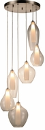 Worldwide FS827MN16 Botella  Contemporary Matte Nickel Halogen Multi Pendant Light Fixture