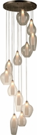 Worldwide FS829MN25 Botella  Contemporary Matte Nickel Halogen Multi Hanging Pendant Lighting