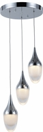 Worldwide FS835C11 Droplet  Modern Polished Chrome LED Multi Pendant Hanging Light