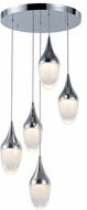 Worldwide FS837C14 Droplet  Modern Polished Chrome LED Multi Drop Lighting