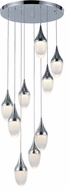 Worldwide FS838C18 Droplet  Contemporary Polished Chrome LED Multi Drop Ceiling Lighting