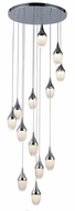 Worldwide FS839C22 Droplet  Contemporary Polished Chrome LED Multi Ceiling Light Pendant