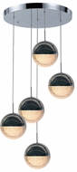 Worldwide FS883C15 Phantasm  Modern Chrome LED Multi Pendant Light Fixture