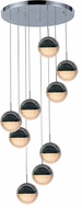 Worldwide FS884C19 Phantasm  Contemporary Chrome LED Multi Pendant Lighting Fixture