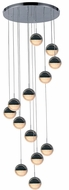 Worldwide FS885C23 Phantasm  Modern Chrome LED Multi Hanging Pendant Lighting