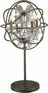 Worldwide TBL190AB18-CL Armillary Antique Bronze Table Lamp