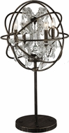 Worldwide TBL190F18-CL Armillary Dark Bronze Table Light