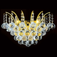 Worldwide W23014G16 Empire Polished Gold Wall Lamp