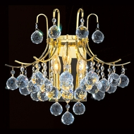 Worldwide W23016G16 Empire Polished Gold Sconce Lighting