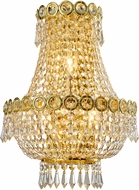 Worldwide W23021G12 Empire Polished Gold Sconce Lighting