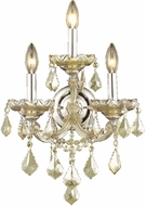 Worldwide W23071C12-GT Maria Theresa Polished Chrome Wall Lamp