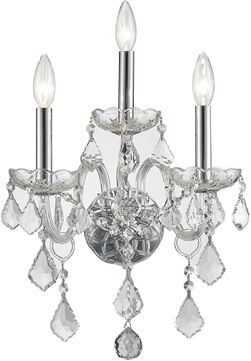 Worldwide W23103C13-CL Provence Polished Chrome Light Sconce