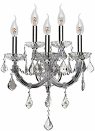 Worldwide W23115C15-CL Maria Theresa Polished Chrome Wall Sconce Lighting
