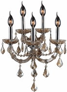 Worldwide W23115C15-GT Maria Theresa Polished Chrome Lamp Sconce
