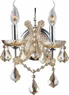 Worldwide W23116C10-GT Maria Theresa Polished Chrome Wall Light Fixture