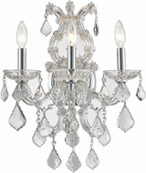 Worldwide W23116C15-CL Maria Theresa Polished Chrome Lighting Wall Sconce