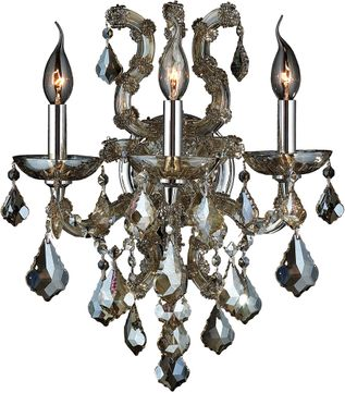 Worldwide W23116C15-GT Maria Theresa Polished Chrome Wall Lighting Sconce