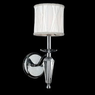 Worldwide W23132C6 Gatsby 16 Inch Tall Chrome Transitional Wall Lighting Fixture