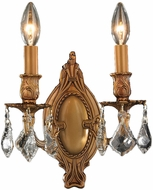Worldwide W23301FG9-CL Windsor French Gold Wall Light Sconce
