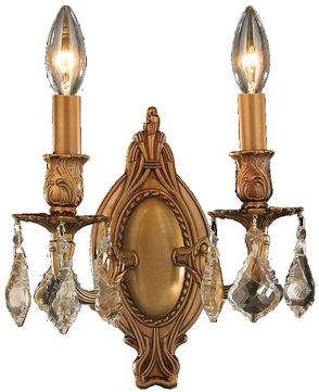 Worldwide W23301FG9-GT Windsor French Gold Wall Light Sconce