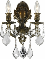 Worldwide W23313B12 Versailles Antique Bronze Wall Lighting Fixture