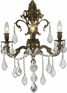 Worldwide W23316B17 Versailles Antique Bronze Wall Sconce