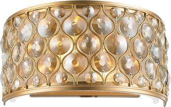 Worldwide W23410MG12-GT Paris Matte Gold Wall Sconce Light