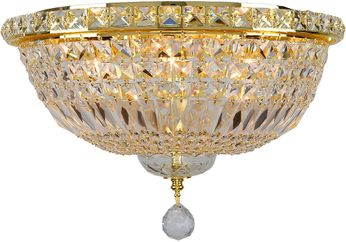 Worldwide W33008G16 Empire Polished Gold Ceiling Lighting